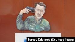 Карыкатура на Ігара Стралкова