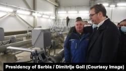Вучич оголосив про відкриття 403-кілометрової секції трубопроводу відкритою 1 січня в селі Господжінці поблизу Нового Саду