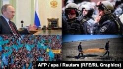 Amid a Kremlin crackdown, Crimea's Tatars protest and bury their dead.
