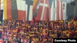 Mакедонските навивачи на ЕП во Србија