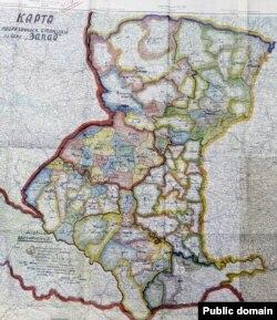 Карта вантажних станцій у справі «Запад»