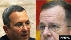 اهود باراک، وزیر دفاع اسرائیل، و مایک مولن، رییس ستاد ارتش آمریکا، چندی پیش درباره مسائل خاورمیانه و موضوعات امنیتی گفت و گو کردند.(عکس:RFERL)