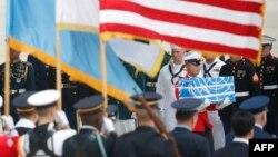 Американдық солдаттардың сүйектерін қайтару рәсімі. Оңтүстік Корея, 27 шілде 2018 жыл