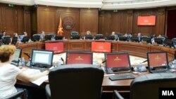 Илустрација - седница на владата на Република Македонија
