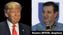 Тэд Круз (справа) и Дональд Трамп