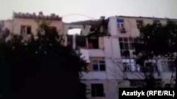 Жилой дом, пострадавший при взрыве бытового газа в Ашхабаде
