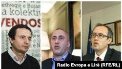 Kandidatët për kryeministër të Kosovës: Albin Kurti, Ramush Haradinaj, Avdullah Hoti