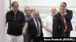 Ivan Brajović i Vujica Lazović na sjednici Glavnog odbora SDP