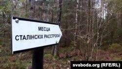 Паказальнікі ў лесе таксама зробленыя актывістамі