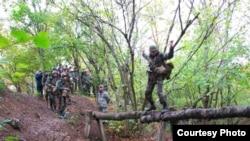 Підрозділ Юрія Головашенка на занятті з гірської підготовки (жовтень 2011 року)
