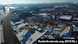 Початок будівельних робіт на Рибальському півострові у Києві