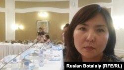 Ақерке Байғазиева, зорлықтан зардап шегуші. Астана. 25 тамыз, 2016 жыл.