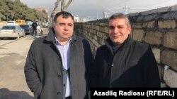 Адвокат Джавад Джавадов и Натиг Джафарли