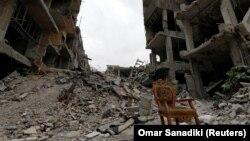 Руйнування в місті Аль-Хаджар-аль-Асвад у Сирії, 22 травня 2018 року