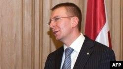 Міністар замежных спраў Латвіі Эдгар Рынкевіч