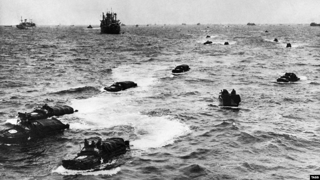 The June 6, 1944, landing in France's Normandy region was the largest amphibious and air landing in history.