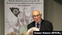 """Theodor Meron na konferenciji """"Istraživanje, dokumentiranje i procesuiranje genocida u Bosni i Hercegovini"""""""