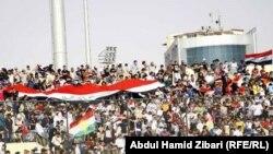 مشجعون عراقيون في مباراة 2 ايلول 2011 في اربيل