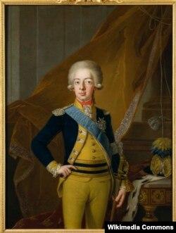Король Швеции Густав IV. Художник Пер Краффт-старший. 1793