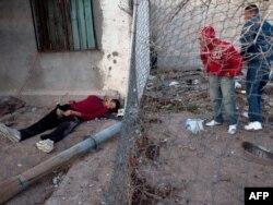 Застреленный боец одного из наркокартелей, Мексика, город Сьюдад-Хуарес