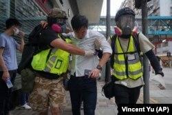 Пекин ұсынған Гонконг қауіпсіздігін бақылау заңына қарсы наразылық. Гонконг, 24 мамыр 2020 жыл.