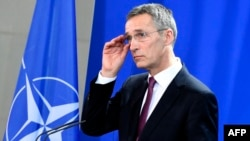 На снимке: Генеральный секретарь НАТО Йенс Столтенберг