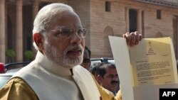 Үндістанның жаңа премьер-министрі Нарендра Моди.