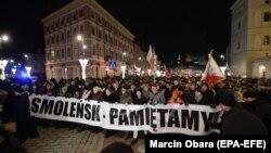 """""""Смоленск – мы помним"""". Демонстрация сторонников """"Права и справедливости"""""""