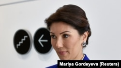 Алия Назарбаева, глава Ассоциации экологических организаций Казахстана и младшая дочь бывшего президента Нурсултана Назарбаева, на Астанинском экономическом форуме в Нур-Султане. 16 мая 2019 года.