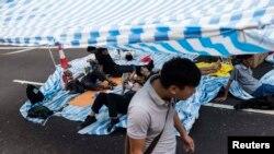 Protestuesit ne Hong Kong