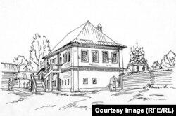Палаты Киреевского. Реконструкция и рисунок Александра Можаева