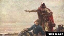 Карл XII и Иван Мазепа после битвы