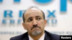 أحمد الجربا في مؤتمر صحفي في موسكو - 4 شباط 2014