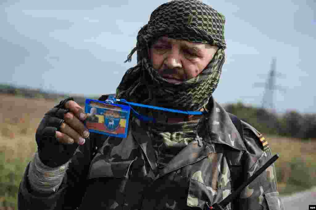 Баец прарасейскіх сэпаратыстаў у Луганскай вобласьці