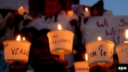 A candlelight vigil in Bangalore shortly after the Mumbai attacks in 2008