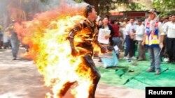 Самосожжение превратилось в основную форму протеста против политики Китая в Тибете