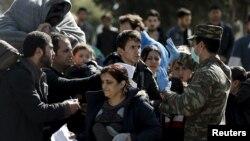 Грециядагы качкындар. 23-февраль, 2016-жыл.