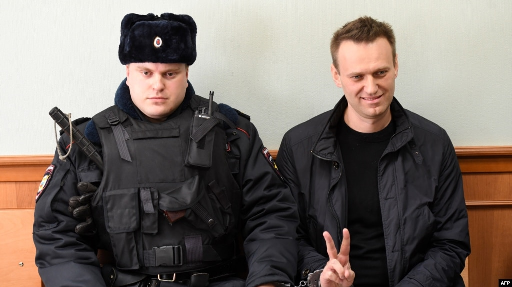 Will it be different this time? Opposition leader Aleksei Navalny in court on March 30.