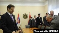 Predstavnici kosovskih Srba sa Borislavom Stefanovićem u Beogradu, 17. novembra 2011