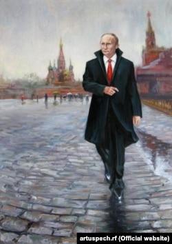 Портрет Владимира Путина, присланный на конкурс «Я патриот России», 2016