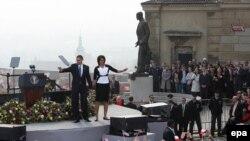 Истиқбол аз Барак Обама дар шаҳри Прага