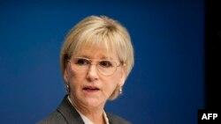 İsveçin xarici işlər naziri Margot Wallstrom.
