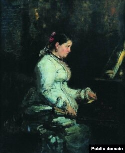 Софія Тарновська за роялем була окрасою качанівських вечорів (І. Рєпін (Ріпин), «Біля рояля», 1880)