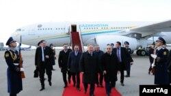 Qazaxıstan prezidenti Nursultan Nazarbayev Azərbaycana gəlib, 2 aprel 2017