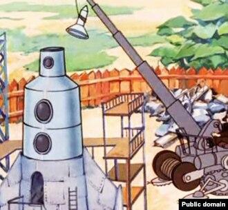 """Кадр из мультфильма """"Незнайка на Луне"""". Первый пилотируемый корабль на Луну планируется запустить с Восточного после 2025 года"""