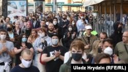 Акция протеста в Минске 14 июля 2020