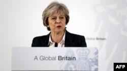 Kryeministrja britanike, Theresa May gjatë fjalimit të sotëm, në Londër