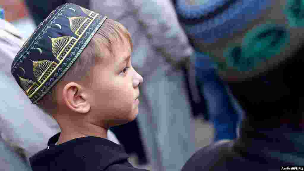 Рамазан мәчетендә Корбан гаетендә балалар да күренде