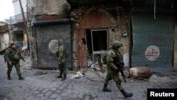 Расейскія вайскоўцы ў Алепа, 31 студзеня 2017 году