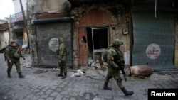 Российские солдаты в Алеппо, январь 2017
